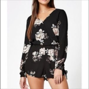 Kendall and Kylie Floral Long Sleeve Romper